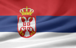 Bandeira de Serbia Fotos de Stock Royalty Free