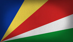 Bandeira de Seychelles Foto de Stock