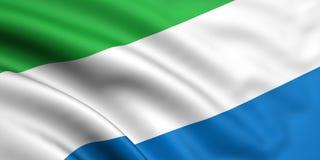 Bandeira de Sierra Leão Fotos de Stock Royalty Free