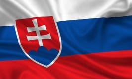 Bandeira de slovakia Fotografia de Stock