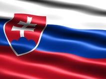 Bandeira de Slovakia Fotos de Stock