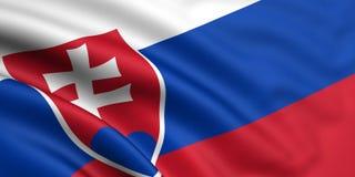 Bandeira de Slovakia Imagem de Stock