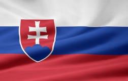 Bandeira de Slovakia Imagens de Stock Royalty Free