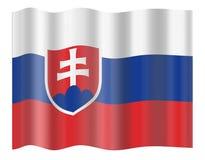 Bandeira de Slovakia Imagens de Stock