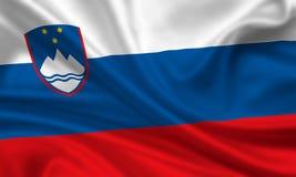 Bandeira de slovenia imagens de stock