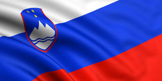 Bandeira de Slovenia Foto de Stock
