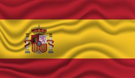 Bandeira de Spain Imagem de Stock Royalty Free