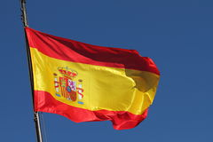 Bandeira de Spain Fotos de Stock Royalty Free