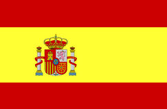 Bandeira de Spain Fotografia de Stock Royalty Free