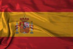 Bandeira de Spain do cetim Ilustração Royalty Free