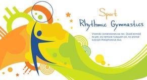 Bandeira de Sport Competition Colorful do atleta da ginástica rítmica Imagens de Stock