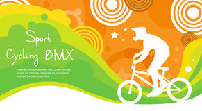 Bandeira de Sport Competition Colorful do atleta do ciclismo de BMX Imagem de Stock