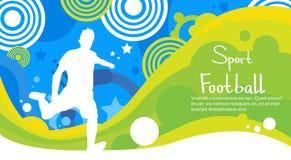 Bandeira de Sport Competition Colorful do atleta do jogador de futebol Foto de Stock