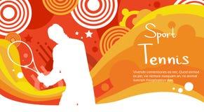 Bandeira de Sport Competition Colorful do atleta do jogador de tênis Imagem de Stock
