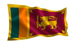 Bandeira de Sri Lanka Uma série de bandeiras do ` do mundo ` O país - bandeira de Sri Lanka Imagens de Stock