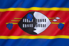 Bandeira de Suazilândia Imagem de Stock Royalty Free