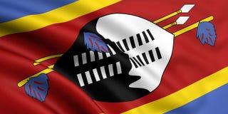 Bandeira de Suazilândia Foto de Stock