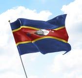 Bandeira de Suazilândia imagens de stock