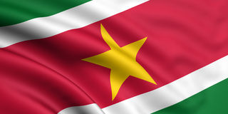 Bandeira de Suriname Fotografia de Stock