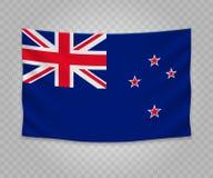 Bandeira de suspensão realística ilustração do vetor