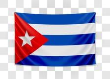 Bandeira de suspens?o de Cuba Republic of Cuba Conceito cubano da bandeira nacional ilustração do vetor