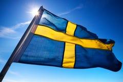 Bandeira de Sweden Fotografia de Stock