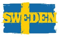Bandeira de Sweden Elemento do projeto Fotos de Stock Royalty Free