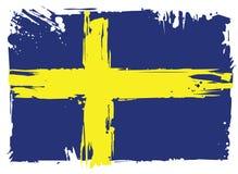 Bandeira de Sweden Elemento do projeto Imagem de Stock