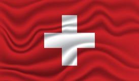 Bandeira de Switzerland Fotos de Stock