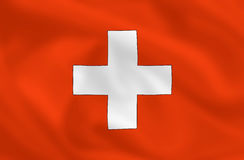 Bandeira de Switzerland Imagem de Stock