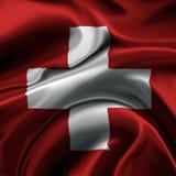 Bandeira de Switzerland Fotografia de Stock Royalty Free