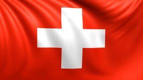 Bandeira de Switzerland Vídeo dado laços sem emenda, metragem ilustração do vetor