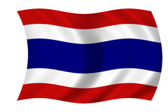 Bandeira de Tailândia Foto de Stock Royalty Free