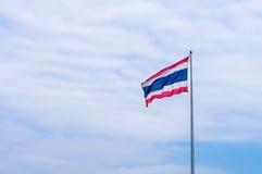 Bandeira de Tailândia no polo Imagem de Stock