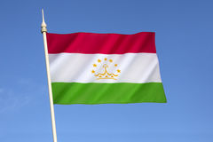 Bandeira de Tajikistan Imagens de Stock
