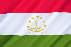 Bandeira de Tajikistan Fotos de Stock