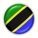 Bandeira de Tanzânia Fotos de Stock Royalty Free