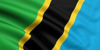 Bandeira de Tanzânia Fotografia de Stock