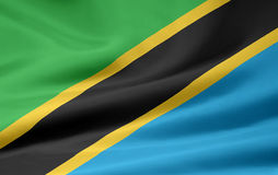 Bandeira de Tanzânia Imagens de Stock Royalty Free