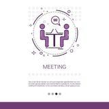 Bandeira de Team Meeting Brainstorm Process Web do negócio com espaço da cópia ilustração royalty free