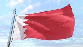 Bandeira de tecelagem do país Barém ilustração do vetor