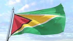 Bandeira de tecelagem do país Guiana ilustração royalty free