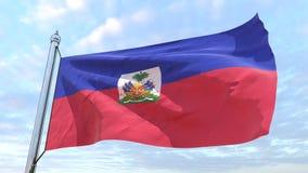 Bandeira de tecelagem do país Haiti ilustração royalty free