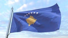 Bandeira de tecelagem do país Kosovo ilustração stock