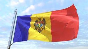 Bandeira de tecelagem do país Moldova fotos de stock royalty free
