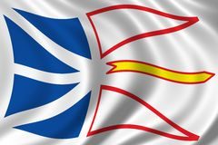Bandeira de Terra Nova Fotografia de Stock