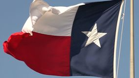 Bandeira de Texas do movimento lento que funde no vento filme