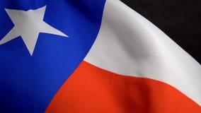Bandeira de Texas que acena no vento no Dia da Independência em América no mo lento video estoque