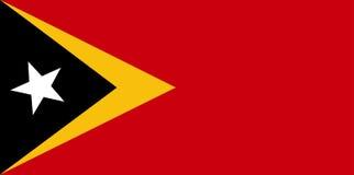 Bandeira de Timor Oriental ilustração royalty free