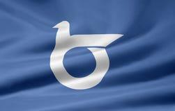 Bandeira de Tottori - Japão Foto de Stock Royalty Free